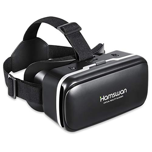 [2019 Neue Version] HAMSWAN 3D VR Brillen, HD Virtual Reality für Smartphone iPhone, Samsung Sony, Android und Handys mit 4,5 - 6,0 Zoll