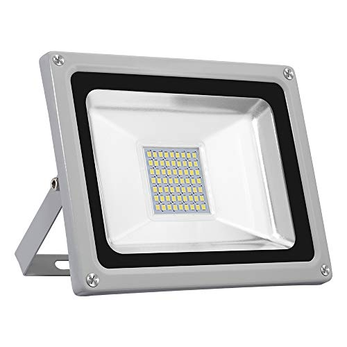 LED Strahler 30W, Kaltweiß 3000LM LED Wandstrahler Lampe, Außenstrahler Aluminium Flutlicht Fluter 220V IP65 Wasserdicht LED Fluter für Außen&Innen(30w) - Yuanline