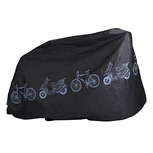 Hamkaw Wasserdichte Fahrradabdeckung, für den Außenbereich, Regen- und Sonnenschutz, UV-beständig, staubdicht, für Mountainbikes und Rennräder, Elektro-Fahrräder Schwarz