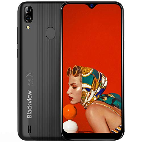 Blackview A60 Pro 4G Smartphone ohne Vertrag 6,1 Zoll Android 9.0 3GB RAM + 16GB ROM, 256GB erweiterbar 4080mAh Akku 8MP+5MP Dual Kamera Dual SIM Handy - Face/Fingerabdrucksensor -Schwarz