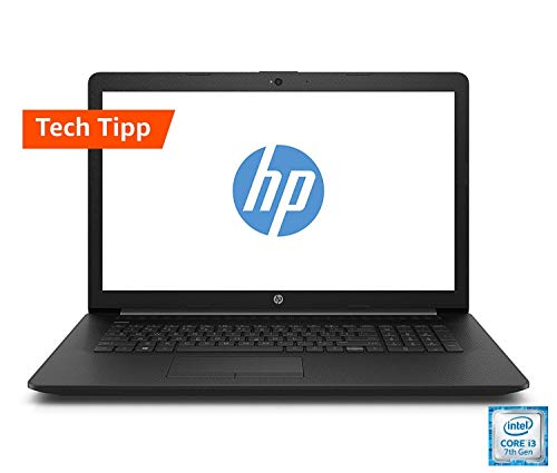 HP 17-by0219ng (17,3 Zoll / HD+) Laptop (Intel Core i3-7020U, 8GB DDR4 RAM, 1TB HDD, 128GB SSD, Intel HD Grafik 620, Windows 10 Home) schwarz