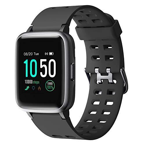 YAMAY Smartwatch,Fitness Armband Uhr Voller Touch Screen Fitness Uhr IP68 Wasserdicht Fitness Tracker Sportuhr mit Schrittzähler Pulsuhren Stoppuhr für Damen Herren Smart Watch für iOS Android Handy