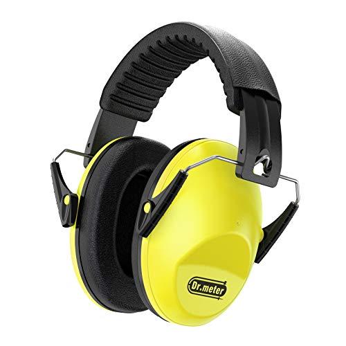 Gehörschutz Kind, Dr.meter Kids Ohrenschützer mit Lärmschutz für Kinder Ohrenschützer zum Schlafen, Lernen, Schießen, Kinder Babys 27NRR Verstellbares Kopfband (Gelb)