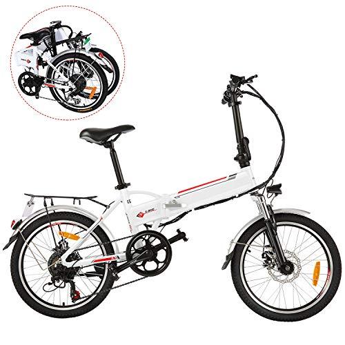 BIKFUN Elektrofahrrad, 20/26 Zoll E-Bike, Lithium-Akku (20 faltbar-weiß)