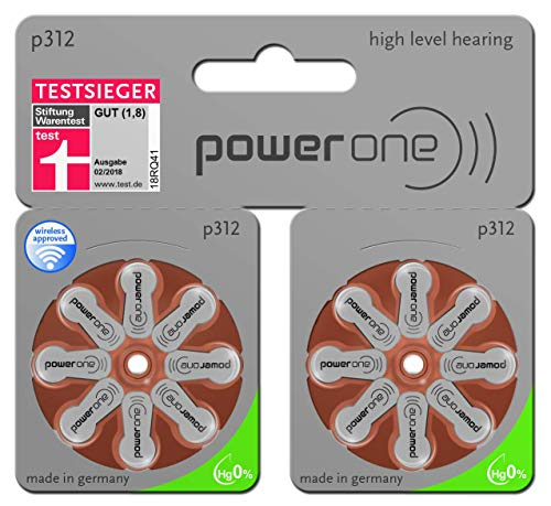 60Stück+20 VARTA Power One Typ 312MF Hörgerätebatterie - Big Comfort Pack