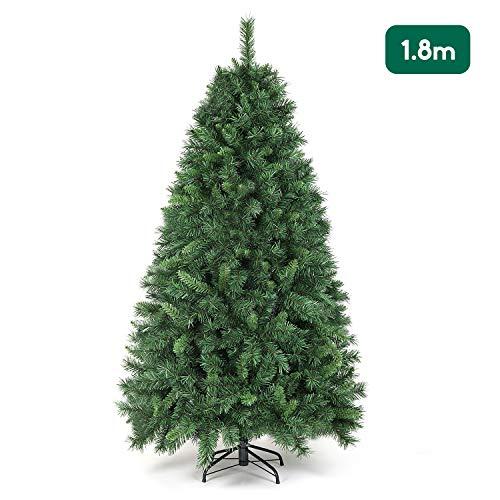 SALCAR Weihnachtsbaum künstlich 180cm mit 580 Spitzen, Tannenbaum künstlich regenschirmsystem inkl. Christbaum-Ständer, Weihnachtsdeko - grün 1,8 m