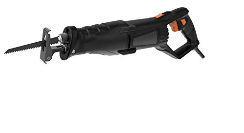 TACKLIFE Säbelsäge mit LED, 850W & 2800 SPM, Verstellbarem Handgriff, 2 Sägeblätter für Holz & Metall, im Koffer