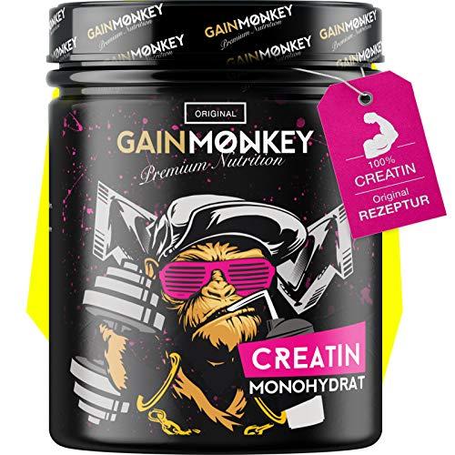 Original GAINMONKEY Creatin Monohydrat Pulver - Vegan und ohne Zusätze I 500g reines Creatine Monohydrate Pulver