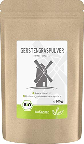 BIO Gerstengraspulver 500g   Gerstengras gemahlen   100{2b67624aa9e288916081a4597323aca39c0a0b60f9fc7a98e180743553065cc9} naturrein   Rohkostqualität   aus Deutschland bioKontor