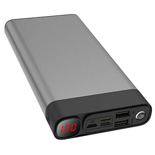 Externer Akku 30000mAh Powerbanks Mobiles Portable Ladegerät Die kann Nicht nur Ihr Handy Aufladen sondern sie ist auch kompatibel mit Spielkonsole ( Grau_30000mAh)