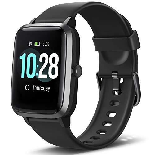 Letsfit Smartwatch, Fitness Tracker Voll Touchscreen Fitness Armbanduhr mit Pulsmesser Schlafmonitor Musiksteuerung, Sportuhr Schrittzähler für Damen Herren Smart Watch Stoppuhr für Android und iOS