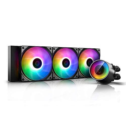 DEEP COOL Castle 360 RGB V2 ARGB AIO CPU Wasserkühlung CPU-Flüssigkeitskühlung 3x120mm RGB PWM Lüfter, 3 Jahre Garantie
