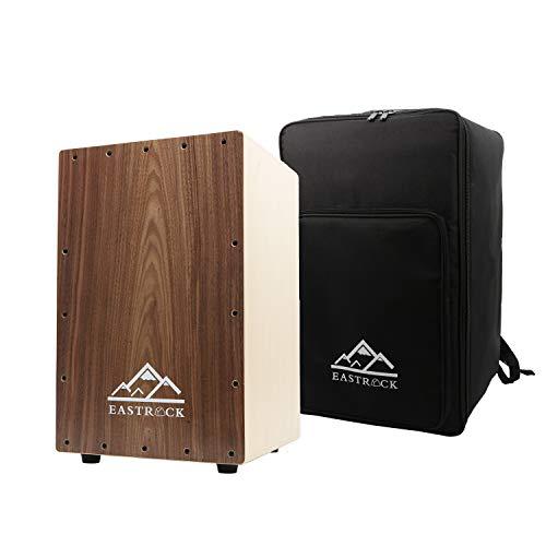 EastRock Cajon Box Drum - Hölzerne Percussion Box, mit internen Gitarrensaiten, Full Size (Cajon)