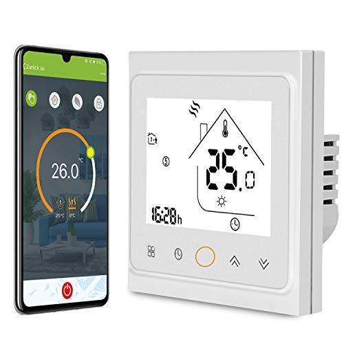 AWOW Smart Home Thermostate WiFi Temperaturregler Wandthermostat intelligente Heizungssteuerung für Fussbodenheizung Wasser Heizung Kompatibel Alexa,Google Assistant,tuya APP Smart Life(GA,3A)