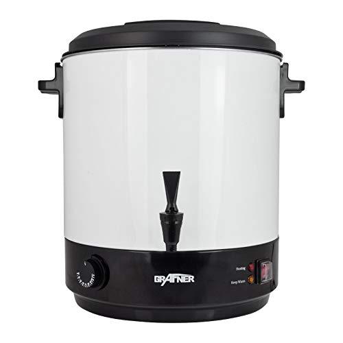 Grafner 2in1 XL Einkochautomat aus Edelstahl - 25 Liter - 2500 Watt mit Zapfhahn, Thermostat und Überhitzungsschutz Heißgetränkespender Glühweintopf