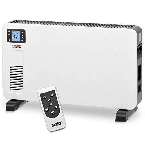 Hecht Elektroheizung (Brandneue Version 2020) - Heizgerät für eine schnelle und wohlfühlende Wärme - Stromsparend - Mit 3 Leistungsstufen, Fernbedienung und Thermostat