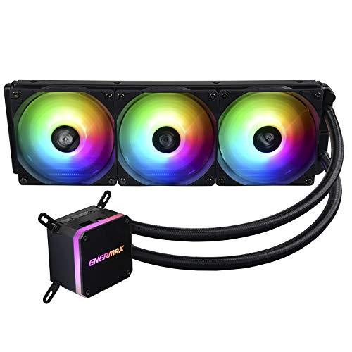 ENERMAX LIQMAX III Adressierbare RGB 360 All-In-One CPU Wasserkühler Dual Chamber Intel/AMD AM4 Support 350W+ TDP (3x ARGB PWM Lüfter); ELC-LMT360-ARGB schwarz