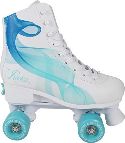 RAVEN Rollschuhe Roller Skates Trista/Serena verstellbar 2019 (Serena Navy/Mint, 35-38(22,5cm-24cm))