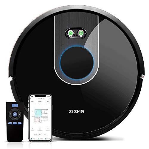 Zigma Spark Saugroboter mit Wassertank, Staubsauger Roboter mit Wischfunktion, LDS Navigation und APP-Steuerung