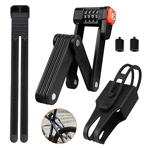BestCool Faltschloss, Tragbares 4-stelliges Passwort-Fahrradschloss mit 6 hochsicheren, gehärteten Metallgelenken, Diebstahlschutz-Fahrradschloss - Tolles Werkzeug für die Fahrradsicherheit