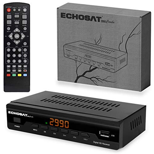 Kabelreceiver Kabel Receiver Receiver für digitales Kabelfernsehen 2990 Combo DVB-C (HDTV ,DVB-C / C2, DVB-T/T2 , HDMI , SCART , USB 2.0 , WLAN optional) + HDMI Kabel