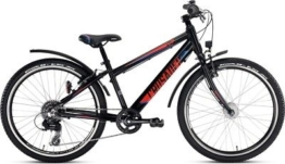 Puky Crusader 24-8 Alu light Active Kinderrad Jugendrad schwarz/rot 4866